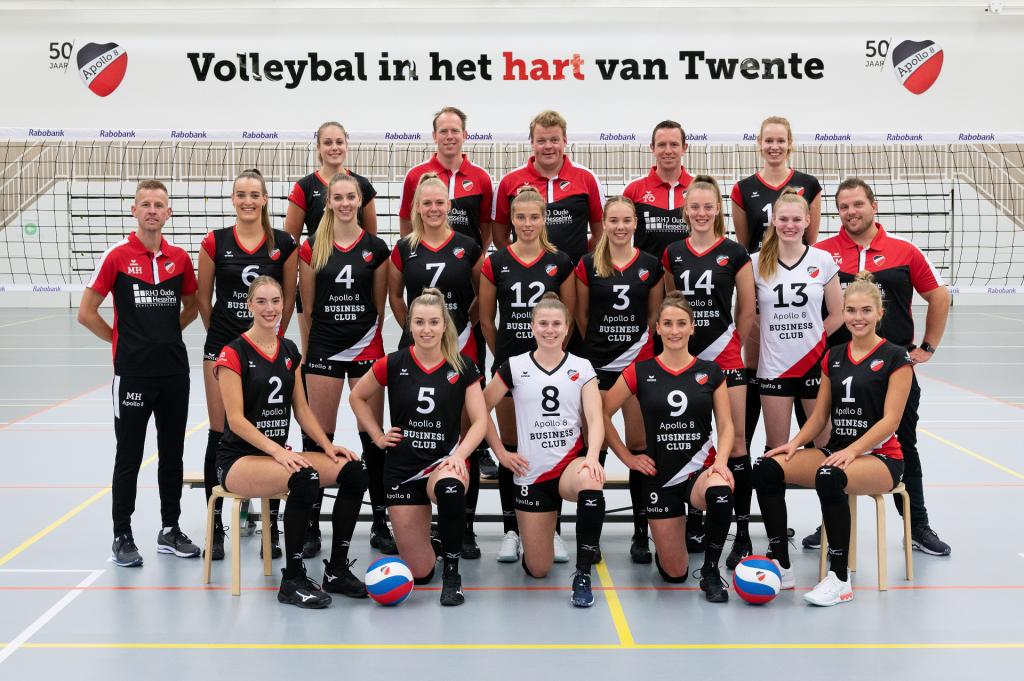 Apollo 8 Dames 1 seizoen 2021-2022. Volleybal in het hart van Twente!